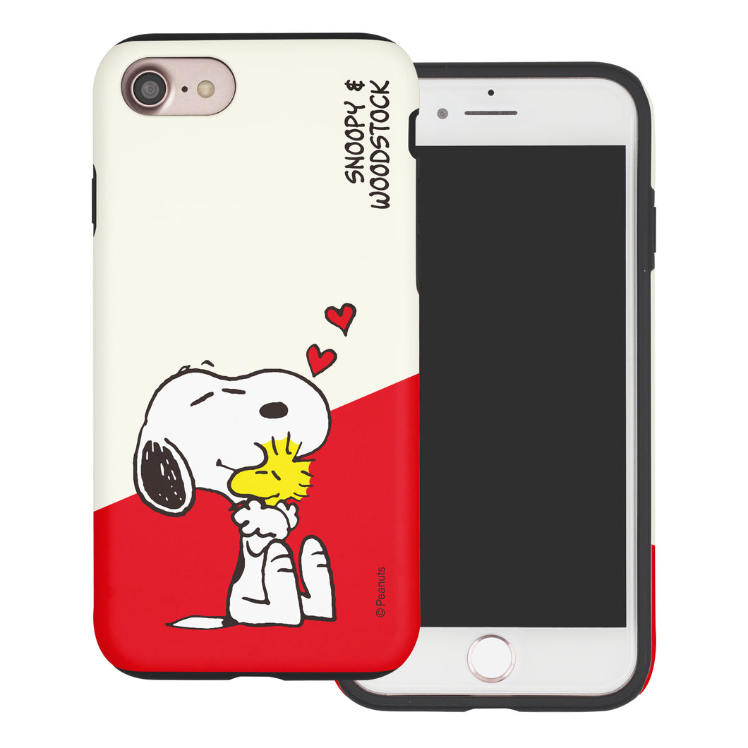 iPhone 6S / iPhone 6 Case (4.7inch) PEANUTS Layered Hybrid [TPU + PC] Bumper Cover - Diagonal Snoopy