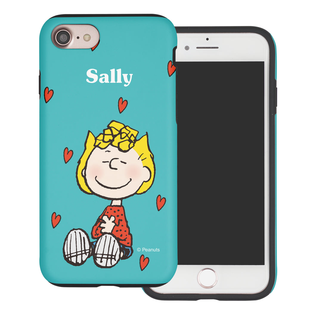 iPhone 5S / iPhone 5 / iPhone SE (2016) Case PEANUTS Layered Hybrid [TPU + PC] Bumper Cover - Sally Heart Sit