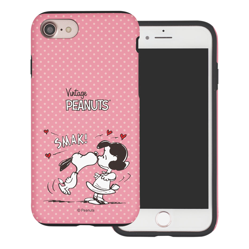 iPhone SE 2020 / iPhone 8 / iPhone 7 Case (4.7inch) PEANUTS Layered Hybrid [TPU + PC] Bumper Cover - Smack Snoopy Lucy