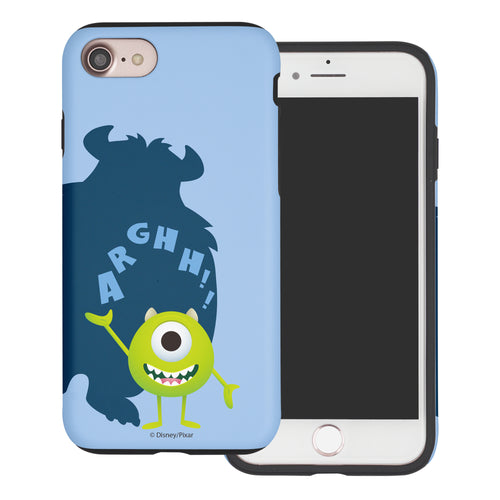 iPhone 8 Plus / iPhone 7 Plus Case Monsters University inc Layered Hybrid [TPU + PC] Bumper Cover - Simple Mike
