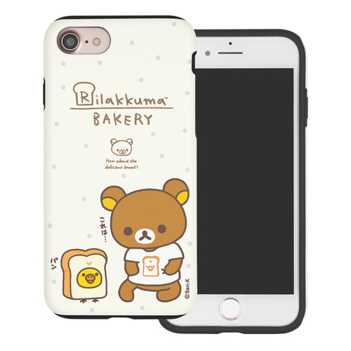 iPhone SE 2020 / iPhone 8 / iPhone 7 Case (4.7inch) Rilakkuma Layered Hybrid [TPU + PC] Bumper Cover - Rilakkuma Bread
