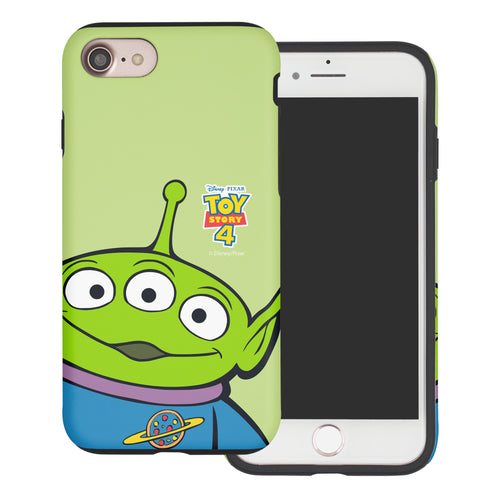 iPhone 8 Plus / iPhone 7 Plus Case Toy Story Layered Hybrid [TPU + PC] Bumper Cover - Wide Alien