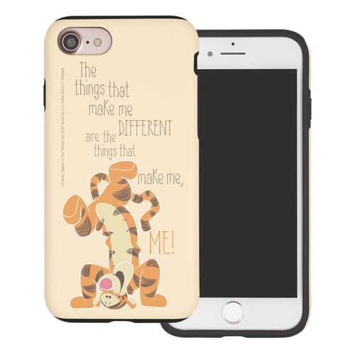 iPhone SE 2020 / iPhone 8 / iPhone 7 Case (4.7inch) Disney Pooh Layered Hybrid [TPU + PC] Bumper Cover - Words Tigger