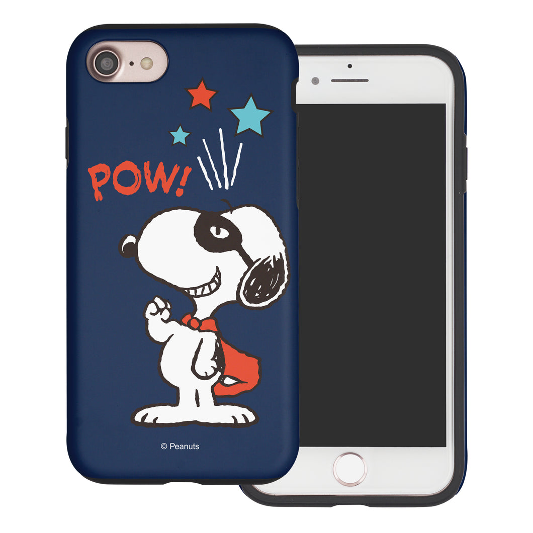 iPhone 6S Plus / iPhone 6 Plus Case PEANUTS Layered Hybrid [TPU + PC] Bumper Cover - Snoopy Pow Navy