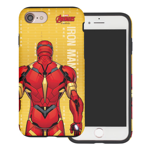 iPhone 8 Plus / iPhone 7 Plus Case Marvel Avengers Layered Hybrid [TPU + PC] Bumper Cover - Back Iron