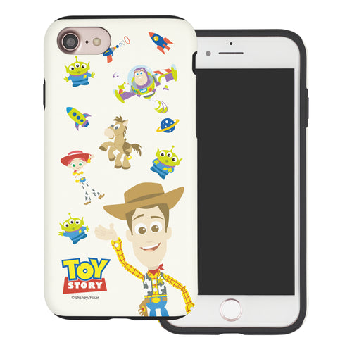 iPhone 8 Plus / iPhone 7 Plus Case Toy Story Layered Hybrid [TPU + PC] Bumper Cover - Pattern Woody