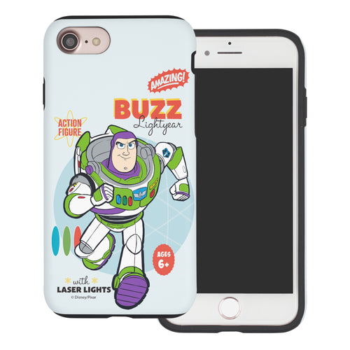 iPhone 8 Plus / iPhone 7 Plus Case Toy Story Layered Hybrid [TPU + PC] Bumper Cover - Full Buzz