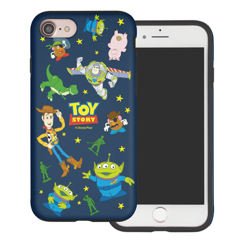 iPhone 8 Plus / iPhone 7 Plus Case Toy Story Layered Hybrid [TPU + PC] Bumper Cover - Pattern Toy Story