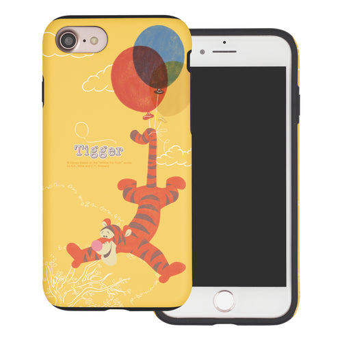 iPhone SE 2020 / iPhone 8 / iPhone 7 Case (4.7inch) Disney Pooh Layered Hybrid [TPU + PC] Bumper Cover - Balloon Tigger