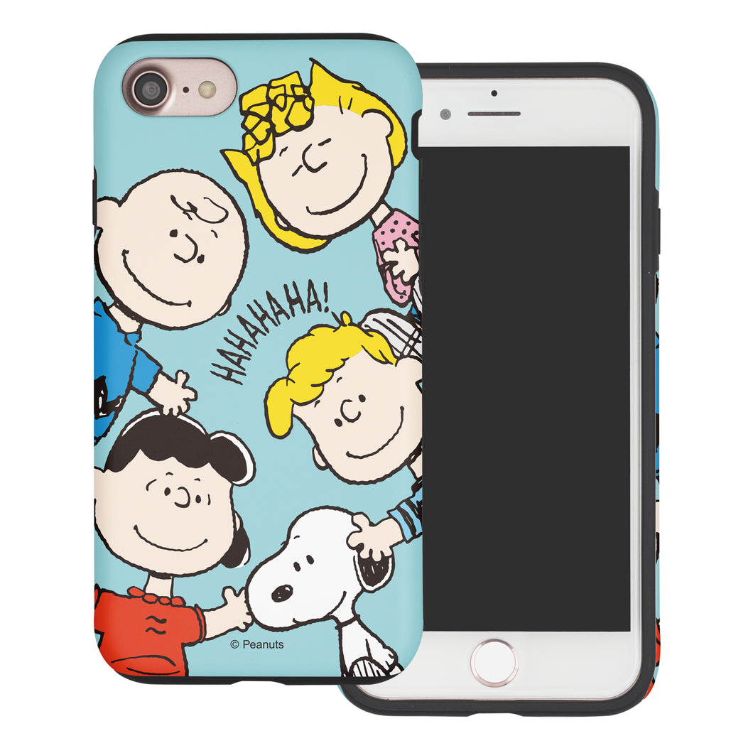 iPhone 5S / iPhone 5 / iPhone SE (2016) Case PEANUTS Layered Hybrid [TPU + PC] Bumper Cover - Peanuts Friends Face