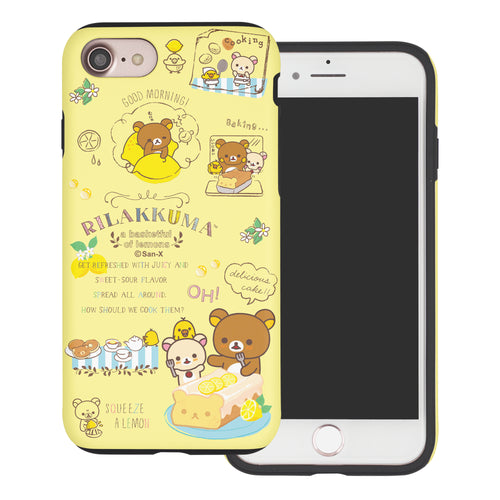 iPhone SE 2020 / iPhone 8 / iPhone 7 Case (4.7inch) Rilakkuma Layered Hybrid [TPU + PC] Bumper Cover - Rilakkuma Cooking