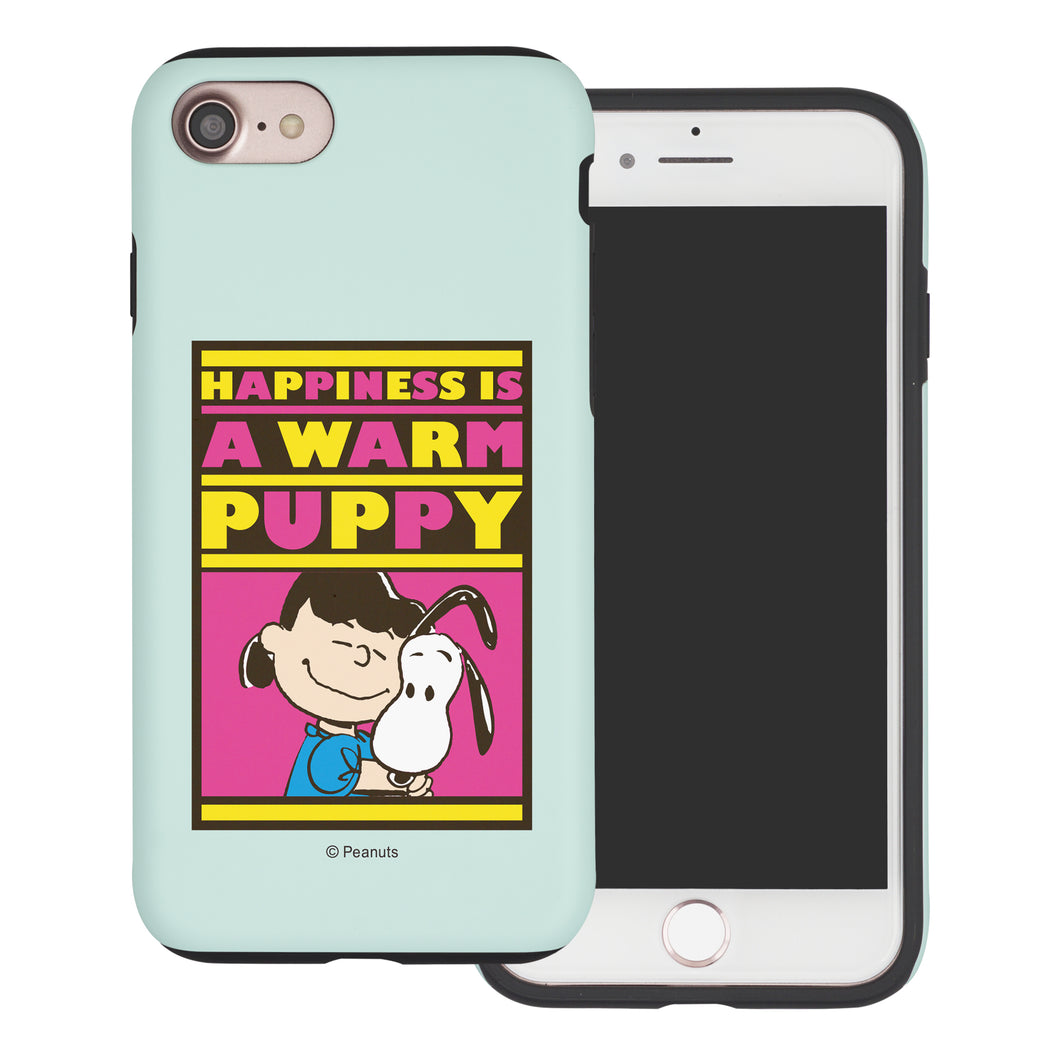 iPhone SE 2020 / iPhone 8 / iPhone 7 Case (4.7inch) PEANUTS Layered Hybrid [TPU + PC] Bumper Cover - Hug Lucy