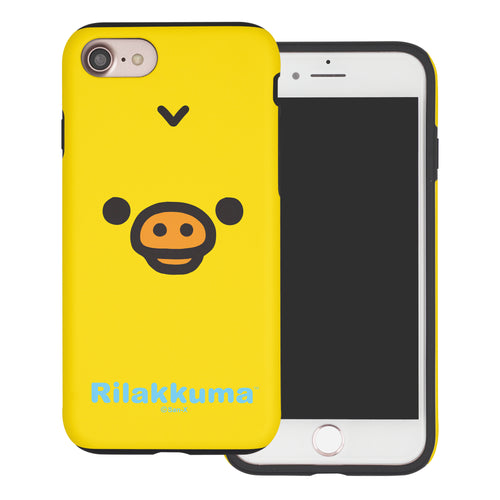 iPhone SE 2020 / iPhone 8 / iPhone 7 Case (4.7inch) Rilakkuma Layered Hybrid [TPU + PC] Bumper Cover - Face Kiiroitori