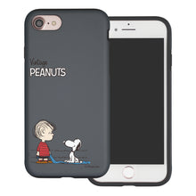 Load image into Gallery viewer, iPhone 8 Plus / iPhone 7 Plus Case PEANUTS Layered Hybrid [TPU + PC] Bumper Cover - Small Snoopy Linus