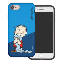 Load image into Gallery viewer, iPhone SE 2020 / iPhone 8 / iPhone 7 Case (4.7inch) PEANUTS Layered Hybrid [TPU + PC] Bumper Cover - Diagonal Linus