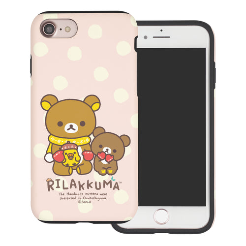 iPhone SE 2020 / iPhone 8 / iPhone 7 Case (4.7inch) Rilakkuma Layered Hybrid [TPU + PC] Bumper Cover - Chairoikoguma Sit