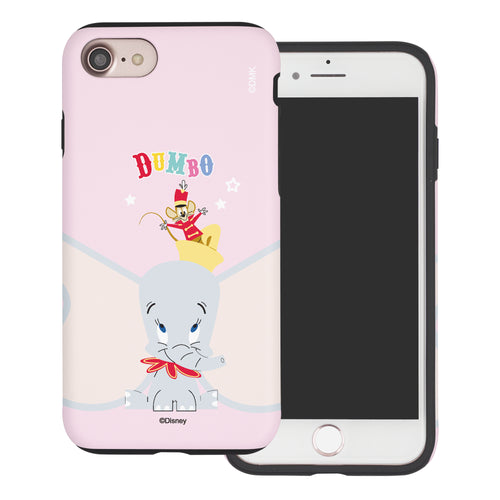 iPhone SE 2020 / iPhone 8 / iPhone 7 Case (4.7inch) Disney Dumbo Layered Hybrid [TPU + PC] Bumper Cover - Dumbo Overhead