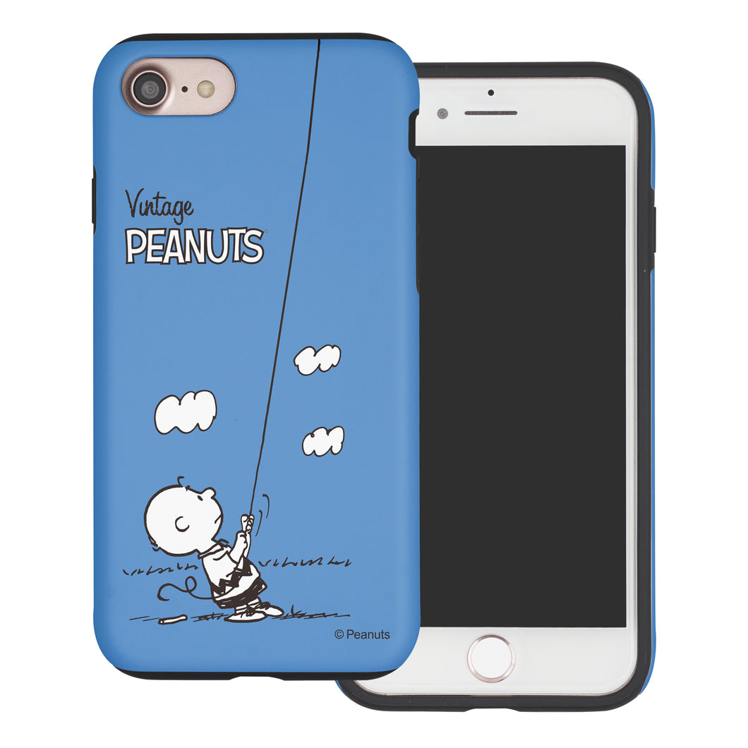 iPhone 6S / iPhone 6 Case (4.7inch) PEANUTS Layered Hybrid [TPU + PC] Bumper Cover - Small Charlie Brown