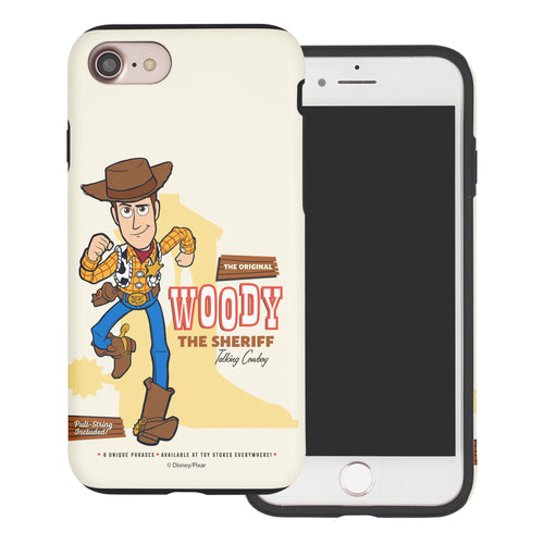 iPhone 8 Plus / iPhone 7 Plus Case Toy Story Layered Hybrid [TPU + PC] Bumper Cover - Full Woody
