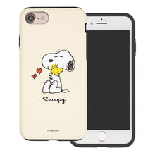 Load image into Gallery viewer, iPhone 8 Plus / iPhone 7 Plus Case PEANUTS Layered Hybrid [TPU + PC] Bumper Cover - Snoopy Woodstock Hug