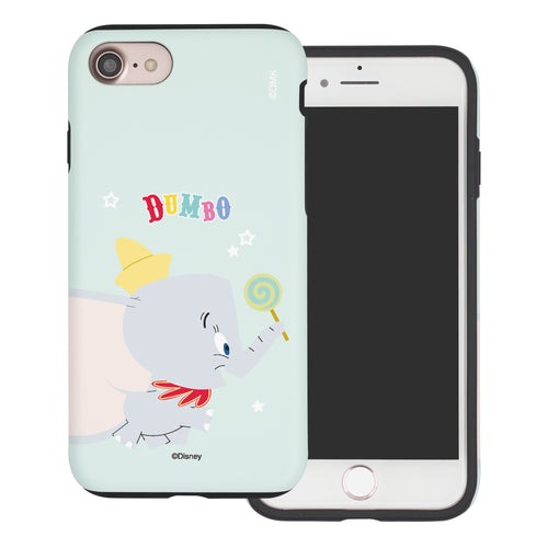 iPhone SE 2020 / iPhone 8 / iPhone 7 Case (4.7inch) Disney Dumbo Layered Hybrid [TPU + PC] Bumper Cover - Dumbo Candy