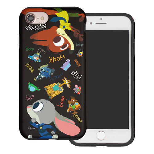 iPhone 5S / iPhone 5 / iPhone SE (2016) Case Disney Zootopia Layered Hybrid [TPU + PC] Bumper Cover - Zootopia Black