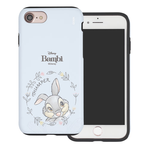 iPhone SE 2020 / iPhone 8 / iPhone 7 Case (4.7inch) Disney Bambi Layered Hybrid [TPU + PC] Bumper Cover - Face Thumper