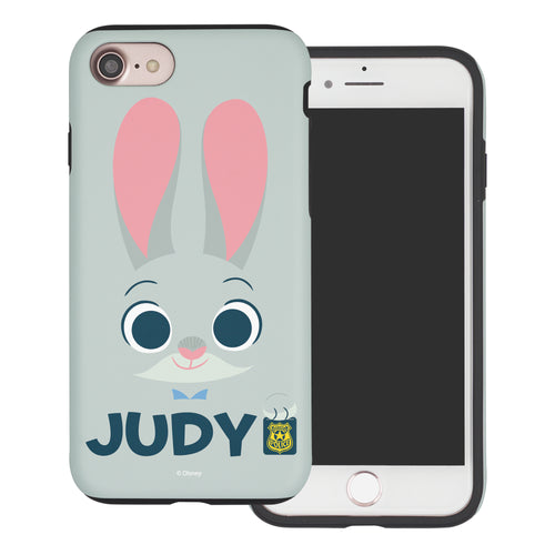 iPhone 6S Plus / iPhone 6 Plus Case Disney Zootopia Layered Hybrid [TPU + PC] Bumper Cover - Face Judy