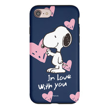 Load image into Gallery viewer, iPhone 6S Plus / iPhone 6 Plus Case PEANUTS Layered Hybrid [TPU + PC] Bumper Cover - Snoopy In Love Navy