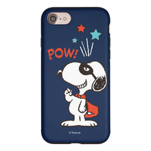 Load image into Gallery viewer, iPhone 6S Plus / iPhone 6 Plus Case PEANUTS Layered Hybrid [TPU + PC] Bumper Cover - Snoopy Pow Navy