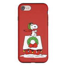 Load image into Gallery viewer, iPhone 5S / iPhone 5 / iPhone SE (2016) Case PEANUTS Layered Hybrid [TPU + PC] Bumper Cover - Christmas Wreath Snoopy