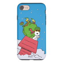 Load image into Gallery viewer, iPhone 8 Plus / iPhone 7 Plus Case PEANUTS Layered Hybrid [TPU + PC] Bumper Cover - Christmas Gift Bag Snoopy