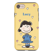 Load image into Gallery viewer, iPhone 6S / iPhone 6 Case (4.7inch) PEANUTS Layered Hybrid [TPU + PC] Bumper Cover - Lucy Heart Stand