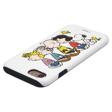 Load image into Gallery viewer, iPhone 5S / iPhone 5 / iPhone SE (2016) Case PEANUTS Layered Hybrid [TPU + PC] Bumper Cover - Peanuts Friends Stand