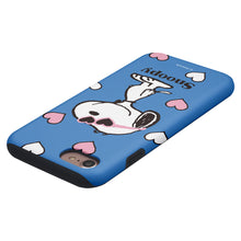 Load image into Gallery viewer, iPhone 8 Plus / iPhone 7 Plus Case PEANUTS Layered Hybrid [TPU + PC] Bumper Cover - Snoopy Heart Glasses Blue