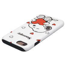 Load image into Gallery viewer, iPhone 8 Plus / iPhone 7 Plus Case PEANUTS Layered Hybrid [TPU + PC] Bumper Cover - Snoopy Big Heart White
