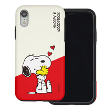 Load image into Gallery viewer, iPhone XS Max Case PEANUTS Layered Hybrid [TPU + PC] Bumper Cover - Diagonal Snoopy