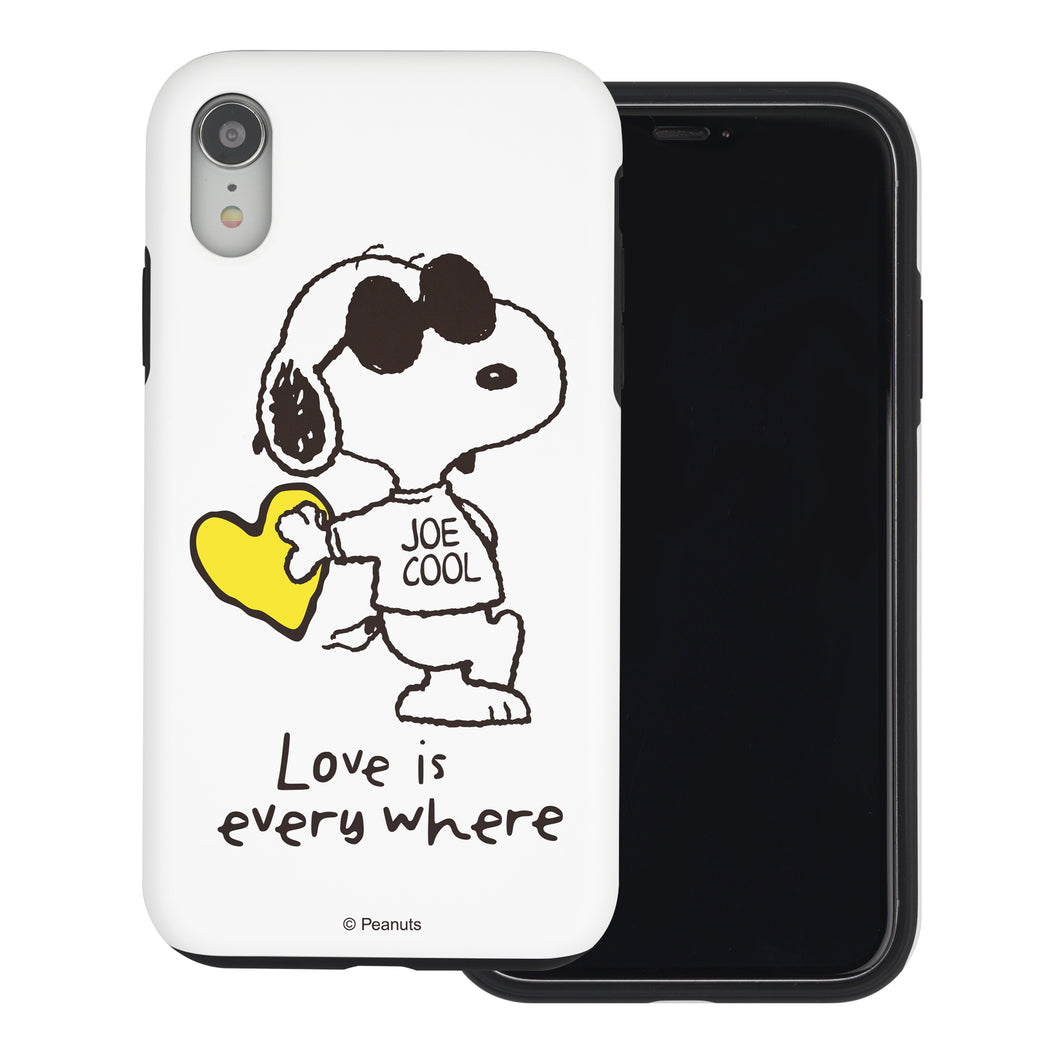 iPhone XS / iPhone X Case PEANUTS Layered Hybrid [TPU + PC] Bumper Cover - Snoopy Love Yellow