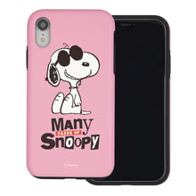 Load image into Gallery viewer, iPhone XS / iPhone X Case PEANUTS Layered Hybrid [TPU + PC] Bumper Cover - Snoopy Face Baby pink