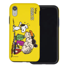 Load image into Gallery viewer, iPhone XS / iPhone X Case PEANUTS Layered Hybrid [TPU + PC] Bumper Cover - Cute Snoopy Friends