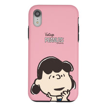 Load image into Gallery viewer, iPhone XS / iPhone X Case PEANUTS Layered Hybrid [TPU + PC] Bumper Cover - Face Lucy