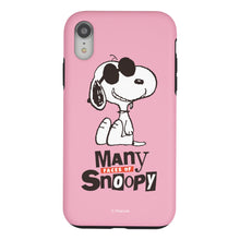 Load image into Gallery viewer, iPhone XR Case PEANUTS Layered Hybrid [TPU + PC] Bumper Cover - Snoopy Face Baby pink