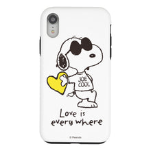 Load image into Gallery viewer, iPhone XS / iPhone X Case PEANUTS Layered Hybrid [TPU + PC] Bumper Cover - Snoopy Love Yellow