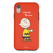 Load image into Gallery viewer, iPhone XS Max Case PEANUTS Layered Hybrid [TPU + PC] Bumper Cover - Charlie Brown Stand Red