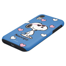 Load image into Gallery viewer, iPhone XR Case PEANUTS Layered Hybrid [TPU + PC] Bumper Cover - Snoopy Heart Glasses Blue