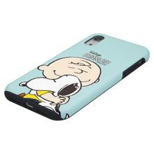 Load image into Gallery viewer, iPhone XS / iPhone X Case PEANUTS Layered Hybrid [TPU + PC] Bumper Cover - Face Charlie & Snoopy