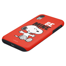 Load image into Gallery viewer, iPhone XR Case PEANUTS Layered Hybrid [TPU + PC] Bumper Cover - Snoopy Be Mine Red
