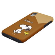 Load image into Gallery viewer, iPhone XS Max Case PEANUTS Layered Hybrid [TPU + PC] Bumper Cover - Vivid Snoopy Woodstock