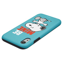 Load image into Gallery viewer, iPhone XS Max Case PEANUTS Layered Hybrid [TPU + PC] Bumper Cover - Snoopy Be Mine Cyan