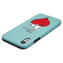 Load image into Gallery viewer, iPhone XR Case PEANUTS Layered Hybrid [TPU + PC] Bumper Cover - Smack Snoopy Heart
